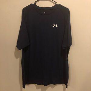 Under Armour heatgear athletic shirt navy blue